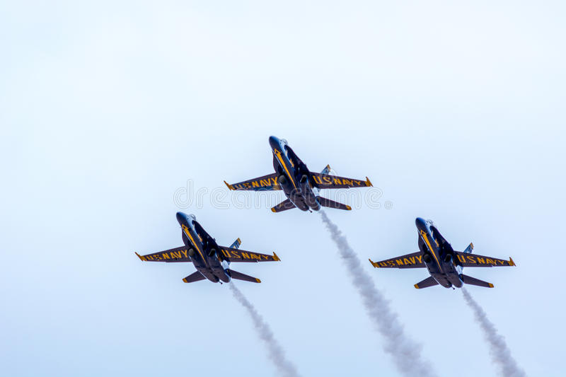 The Blue Angels. Demonstration at Thunder Over Utah airshow, St. George, UT stock photography