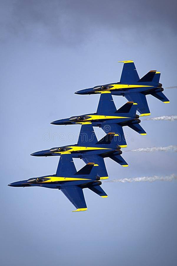 Blue Angels in formation stock image