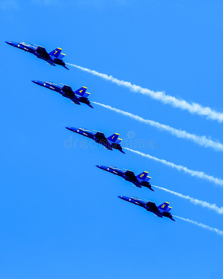 Free Blue Angels In Formation. Royalty Free Stock Photos - 43581298