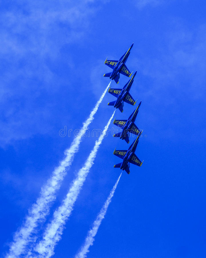 Free Blue Angels In Formation. Royalty Free Stock Image - 43581306