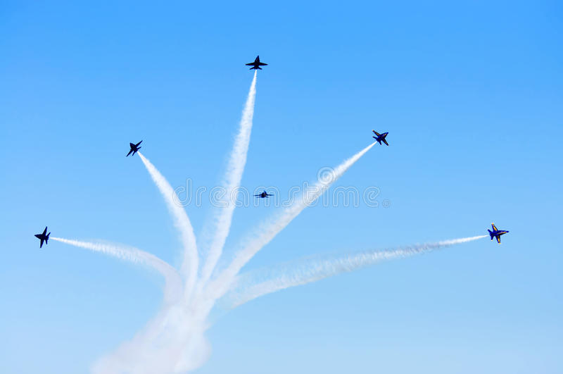 Download Blue Angels Smoke Formation Editorial Photography - Image: 15936012
