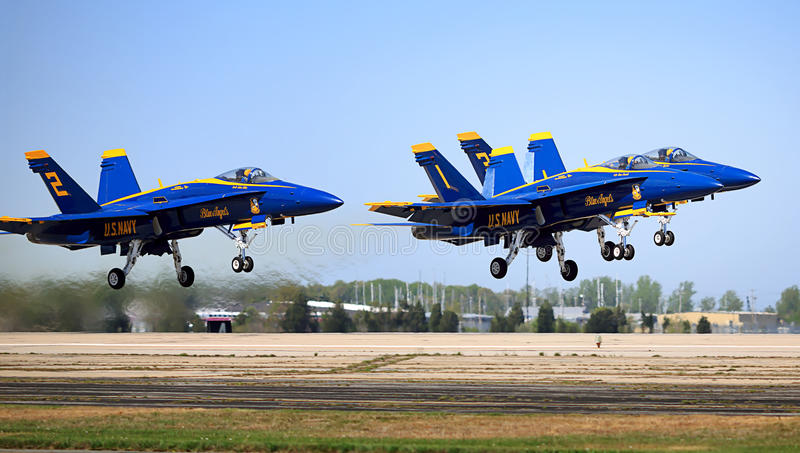 Blue Angels Taking Off royalty free stock images