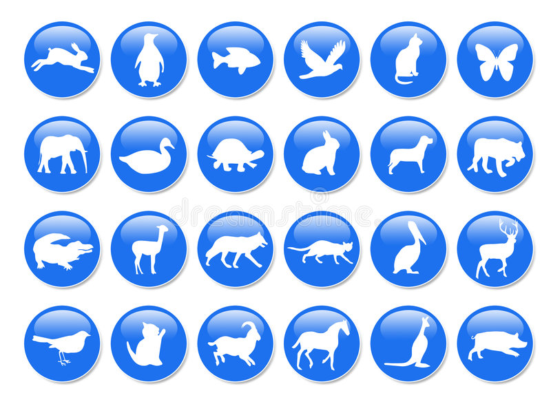 Download Blue animal icons stock illustration. Illustration of many - 7234653