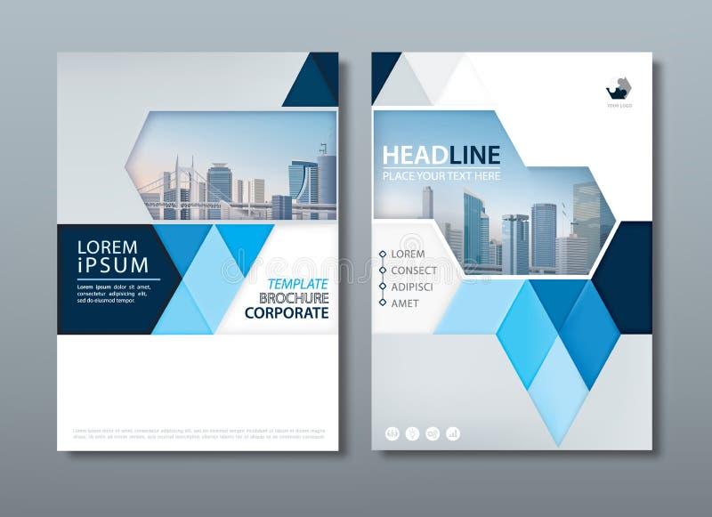 Blue Annual Report Brochure Flyer Design Template, Leaflet Cover ...