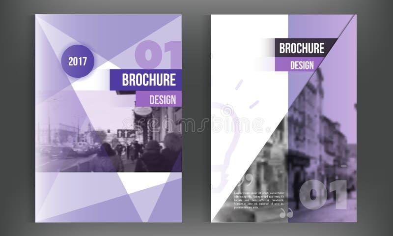 Blue annual report design templates vector set, Leaflet cover for presentation. Business book cover, flyer, professional vector illustration