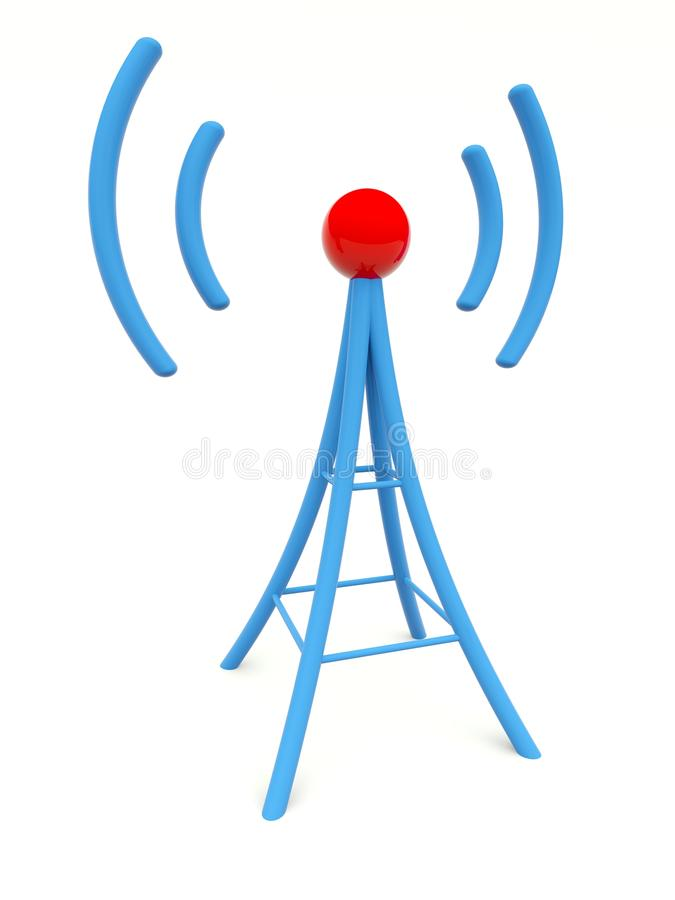 Download Blue antenna stock illustration. Image of technology - 26245053
