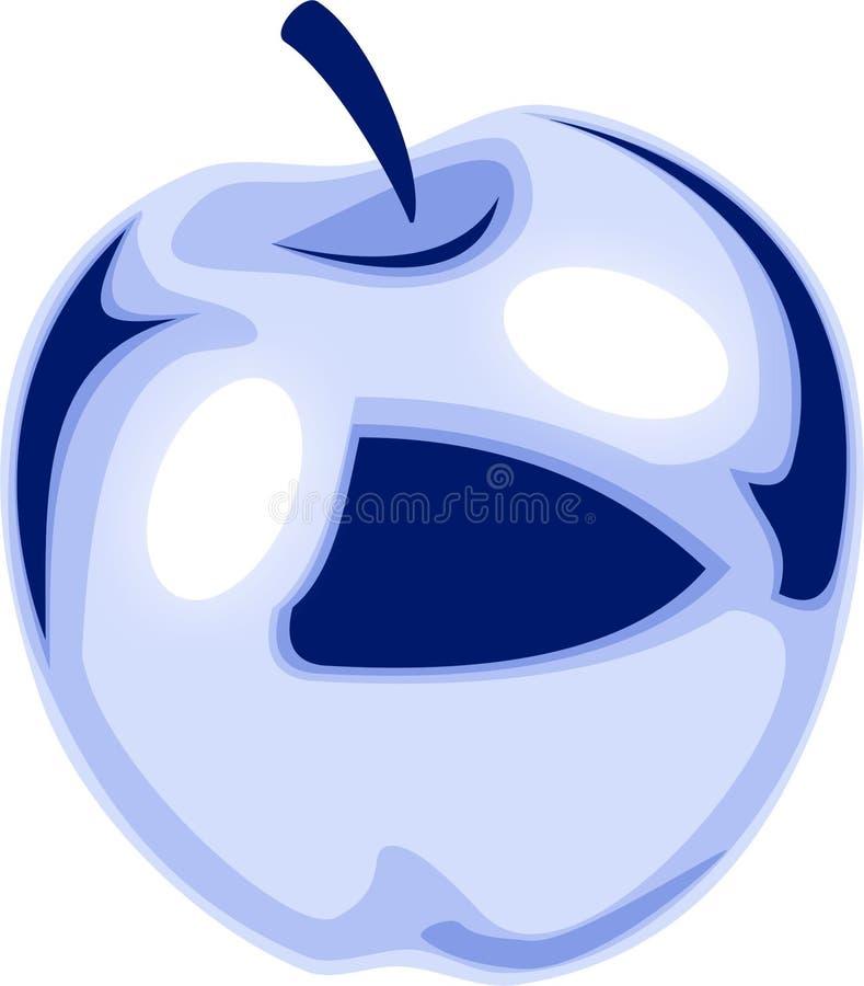 Blue apple royalty free stock image