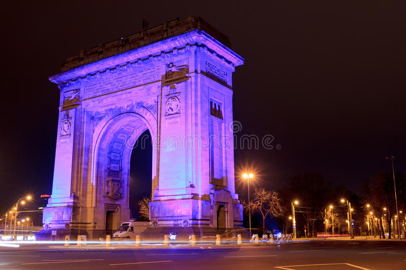 Download Blue Arch Autism Day editorial stock photo. Image of europe - 30192093