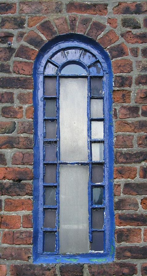 Blue Arched Window royalty free stock images