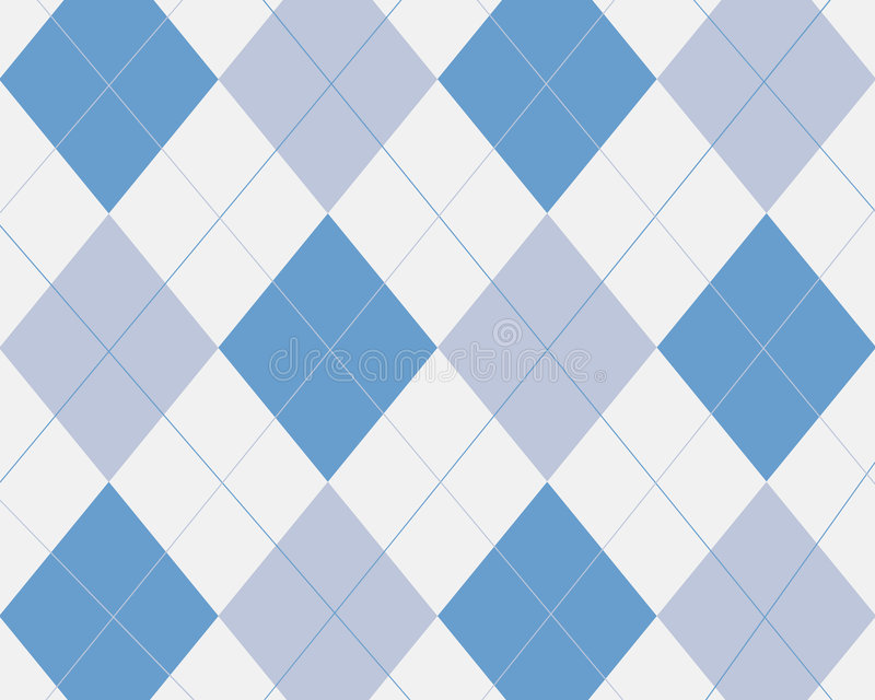 Blue Argyle Royalty Free Stock Photos
