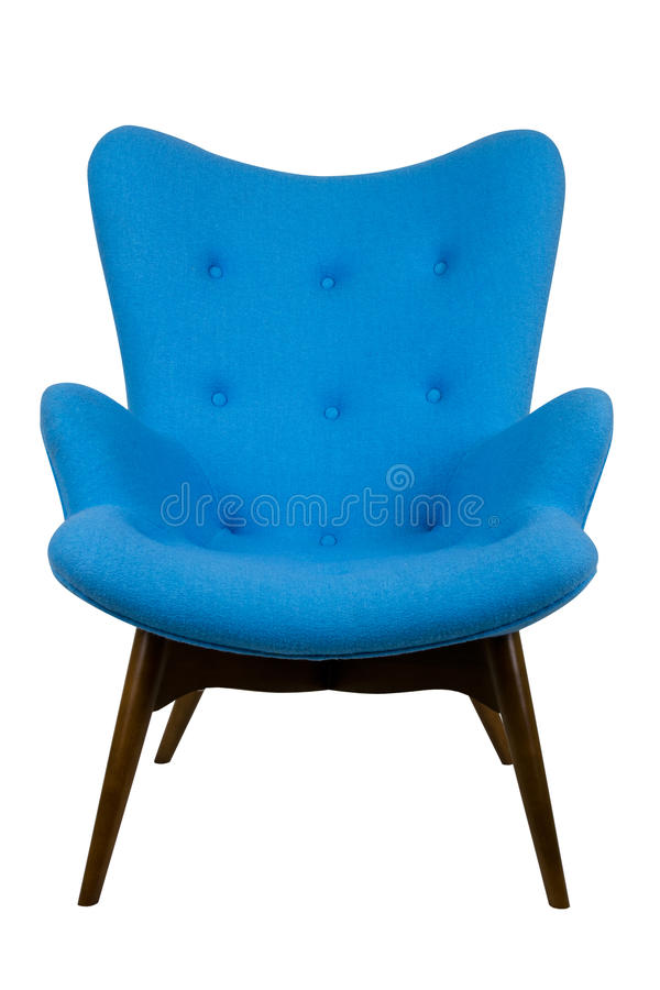 Download Blue armchair stock photo. Image of wood, blue, lifestyle - 25494080