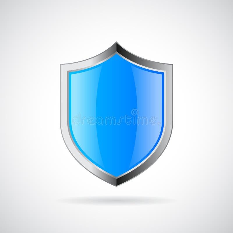 Blue shield vector icon vector illustration