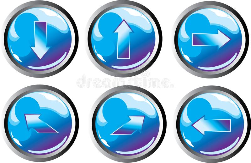 Download Blue arrow buttons stock vector. Illustration of drop - 8446073