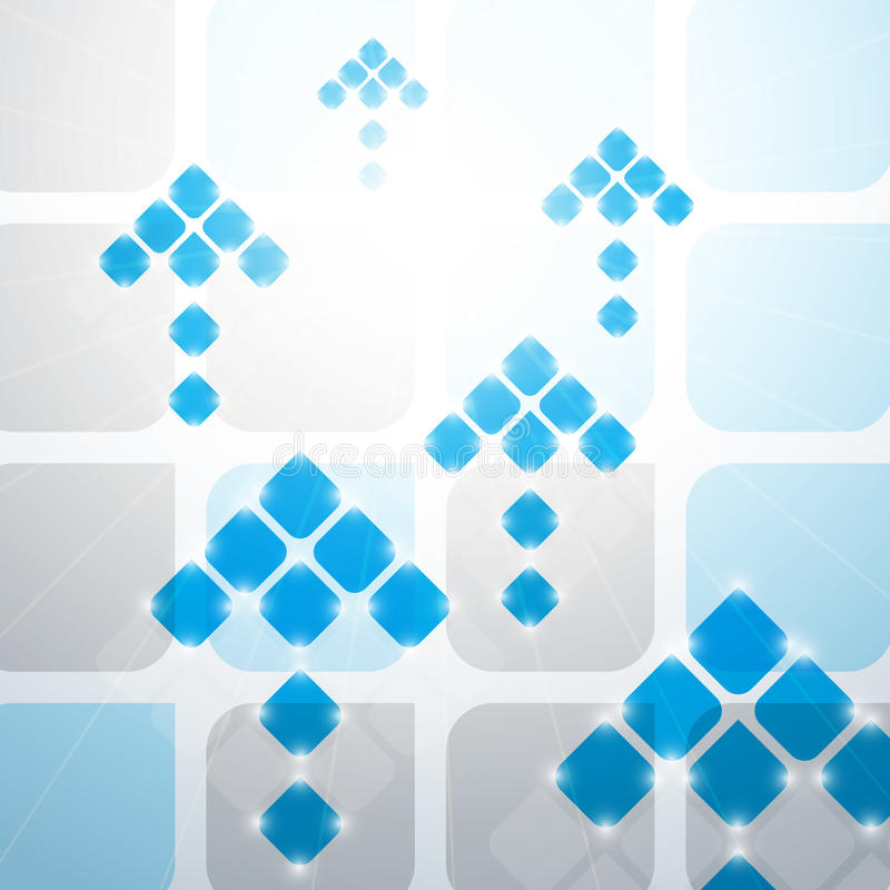 Blue arrows. Abstract blue arrows template background royalty free illustration