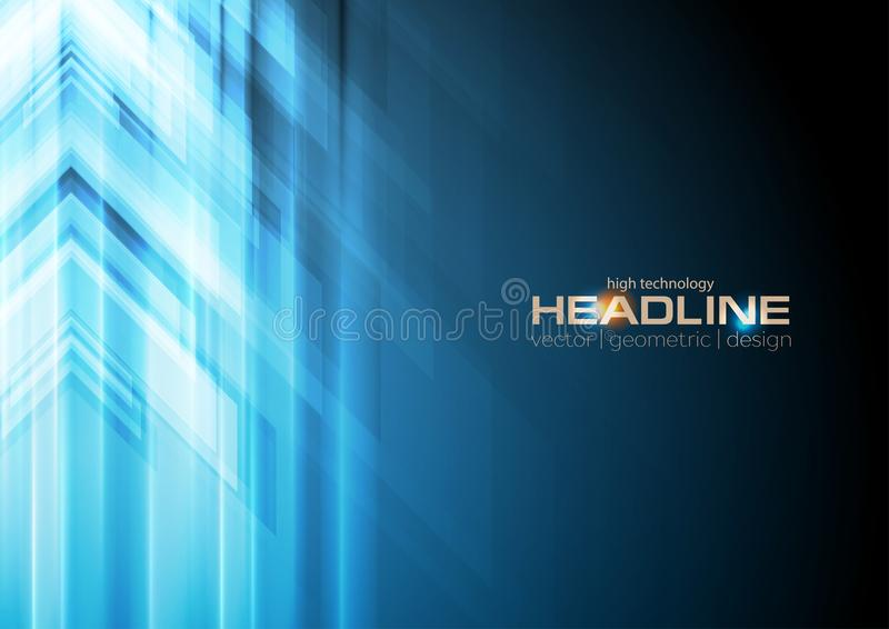 Blue arrows abstract technology background royalty free illustration