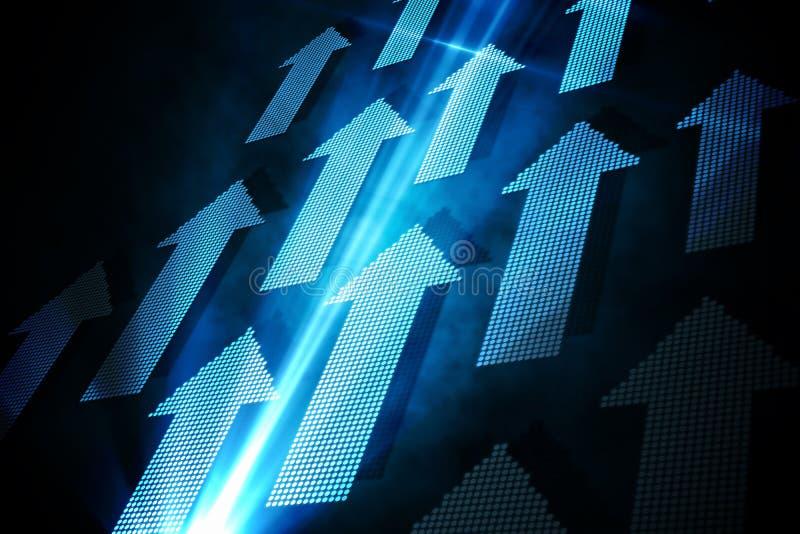 Blue arrows vector illustration