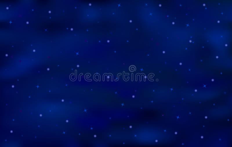 Blue art abstract background with shiny stars royalty free stock photo
