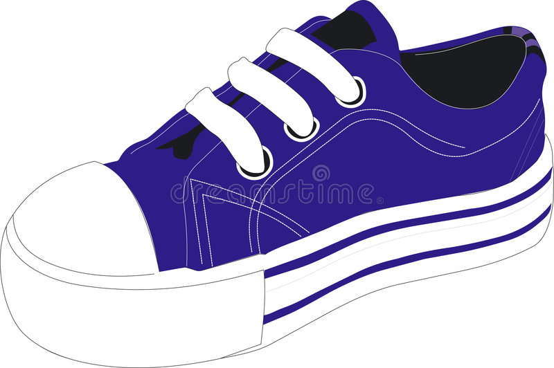 Download Blue athletic shoe stock vector. Illustration of illustrated - 3206306