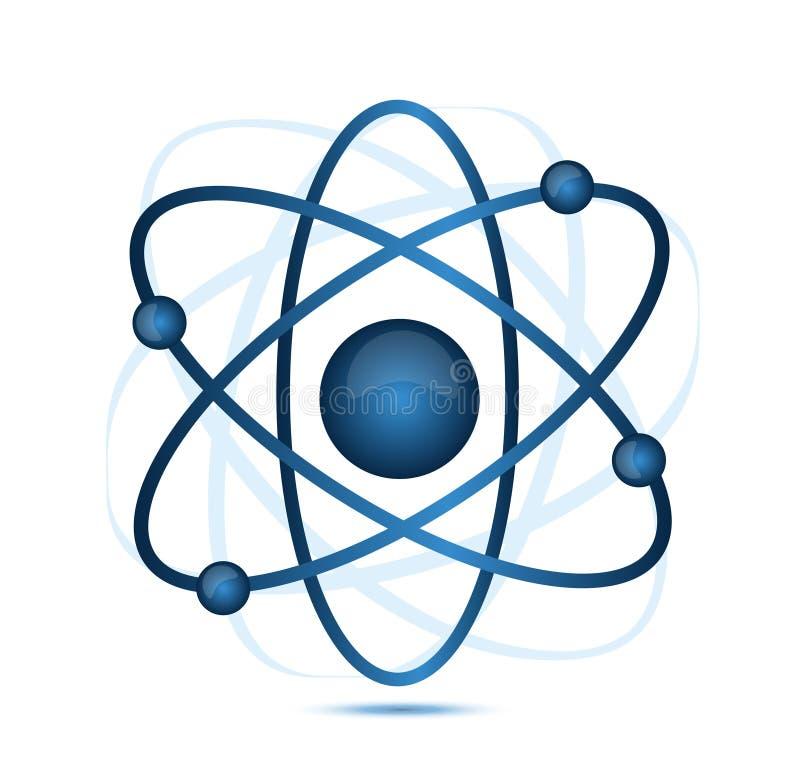 Blue atom vector illustration