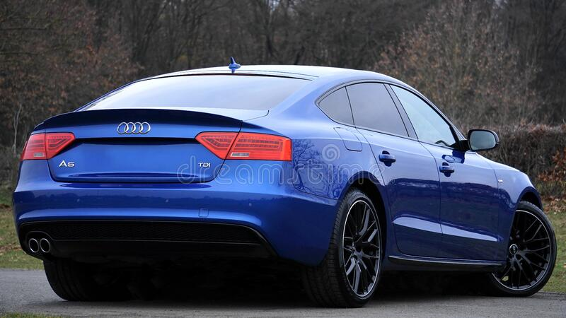 Blue Audi Sports Car Free Public Domain Cc0 Image