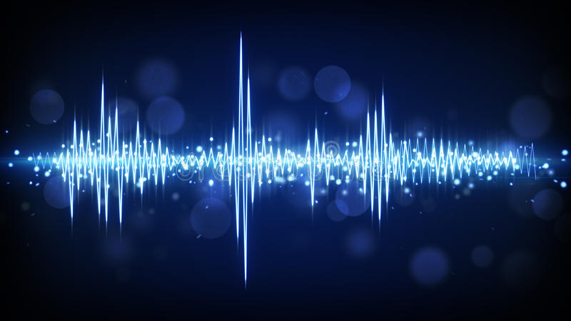 Blue audio waveform background. Blue audio waveform. computer generated technology background vector illustration