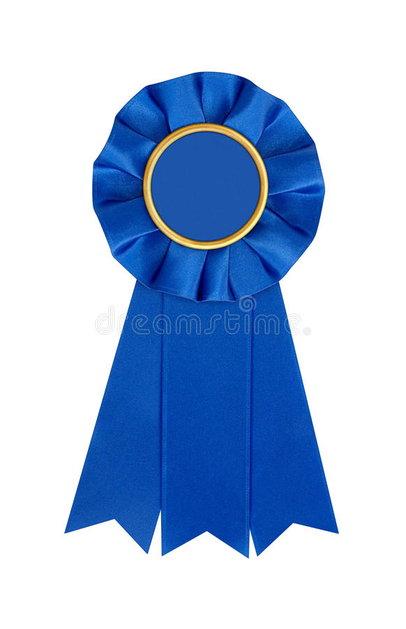 Blue Award 1st Place Winner Ribbon royalty free stock images