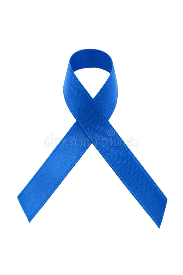 A blue awareness ribbon royalty free stock image
