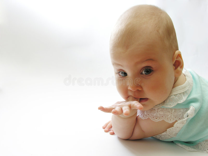 In blue baby stock image
