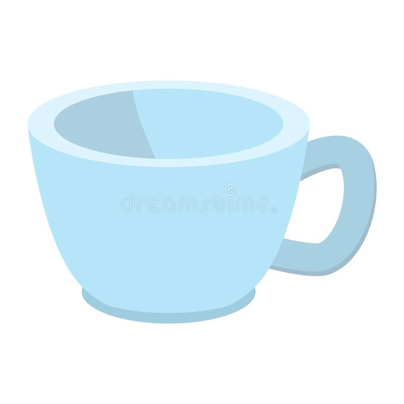Blue baby cup cartoon icon royalty free illustration
