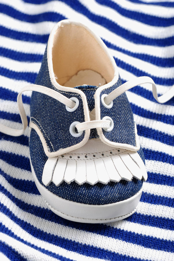 Download Blue Baby Shoe Royalty Free Stock Photography - Image: 25781787