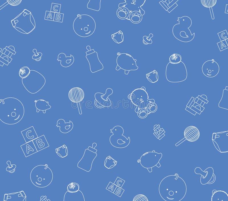 Blue baby wallpaper stock illustration
