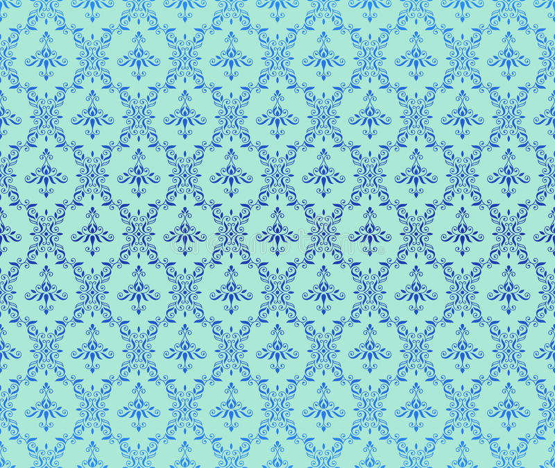 Download Blue background stock vector. Image of baroque, fabric - 17304819
