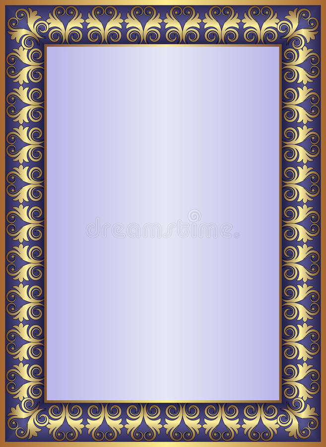 Download Blue background stock vector. Image of ornate, plate - 24791033