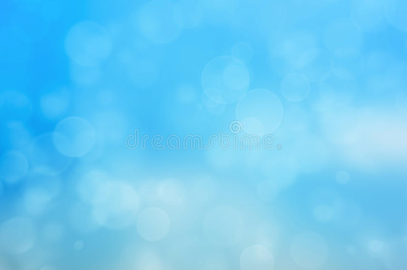 Blue background. Abstract blue background with bokeh effect