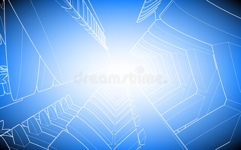 Download Blue background stock illustration. Image of gear, heavy - 28750425