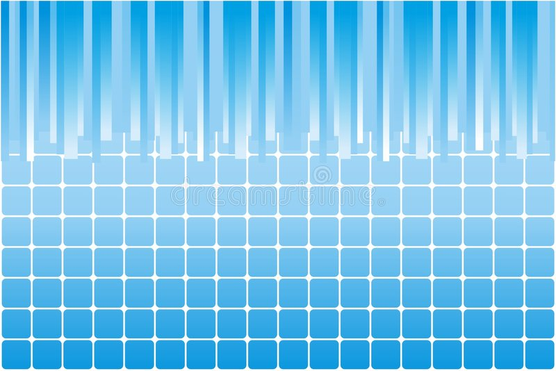 Blue background. Decorative abstract background illustration. Graphic representation for business stock illustration