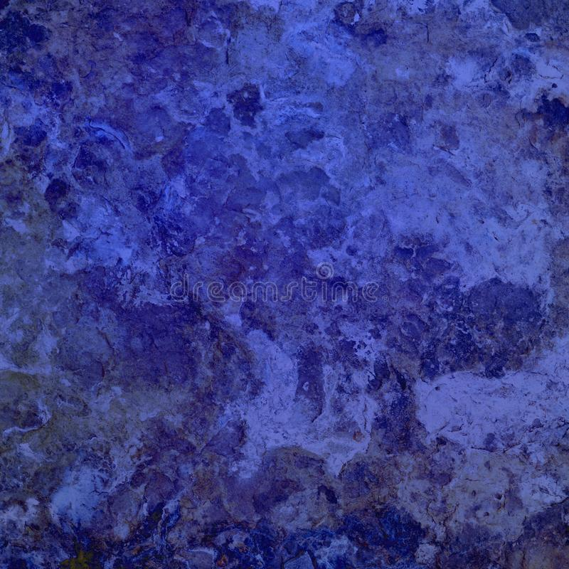 Blue background, abstract bold and bright marbled blue color with stone or rock texture stock photography