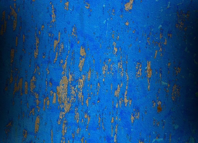 Blue background abstract with rusted paint royalty free stock photo