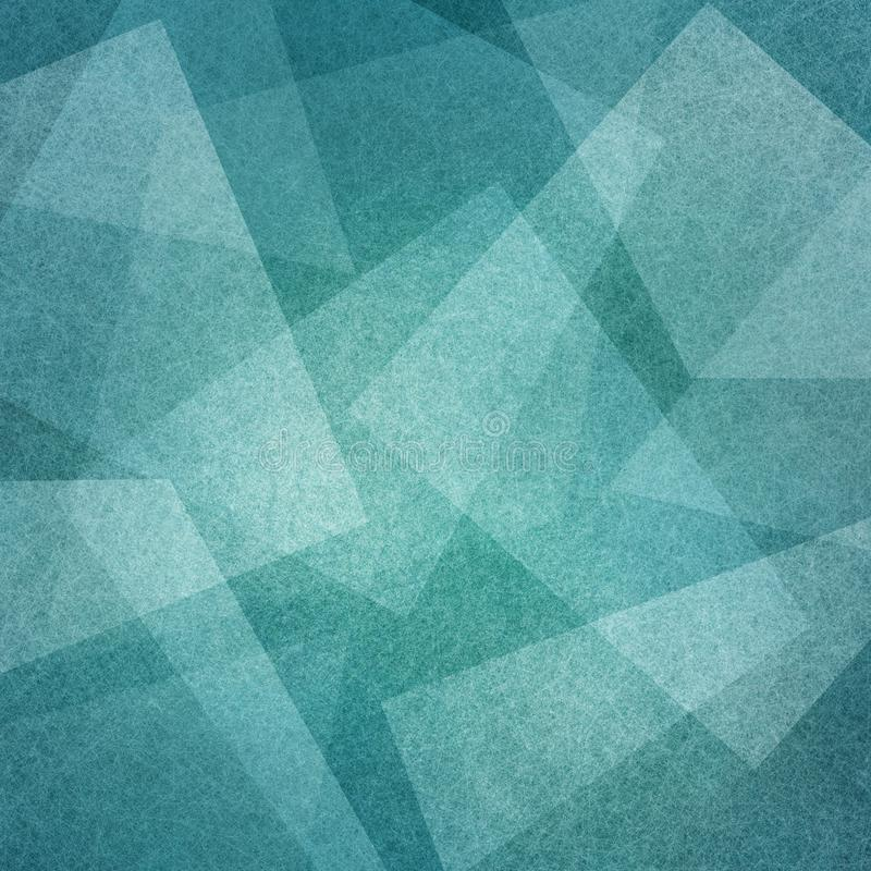 Blue background with abstract squares angles and triangle layers in abstract geometric pattern for web and business designs royalty free illustration