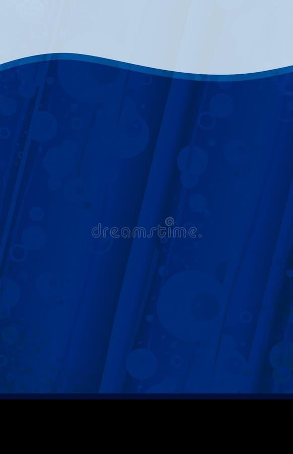 Blue liquid flyer template stock photography