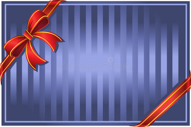 Download Blue background with bow stock vector. Image of fire - 12281134
