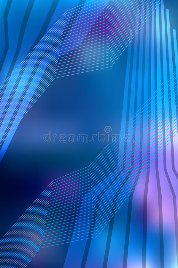 Download Blue Background Brochure Layout Page Magazine Format A4 Stock Vector