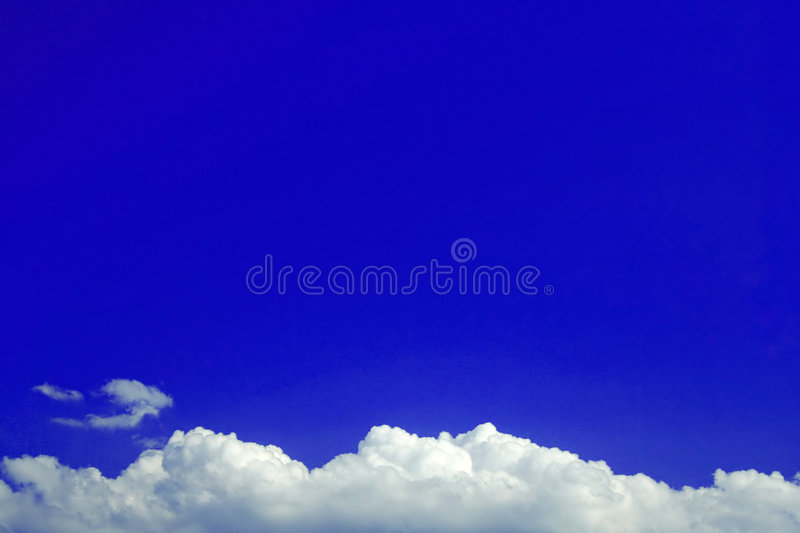 Blue Background Cloud bottom royalty free stock photo