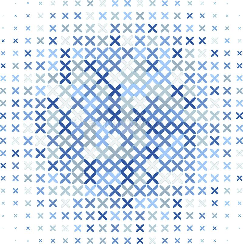 Blue background with criss-cross royalty free illustration