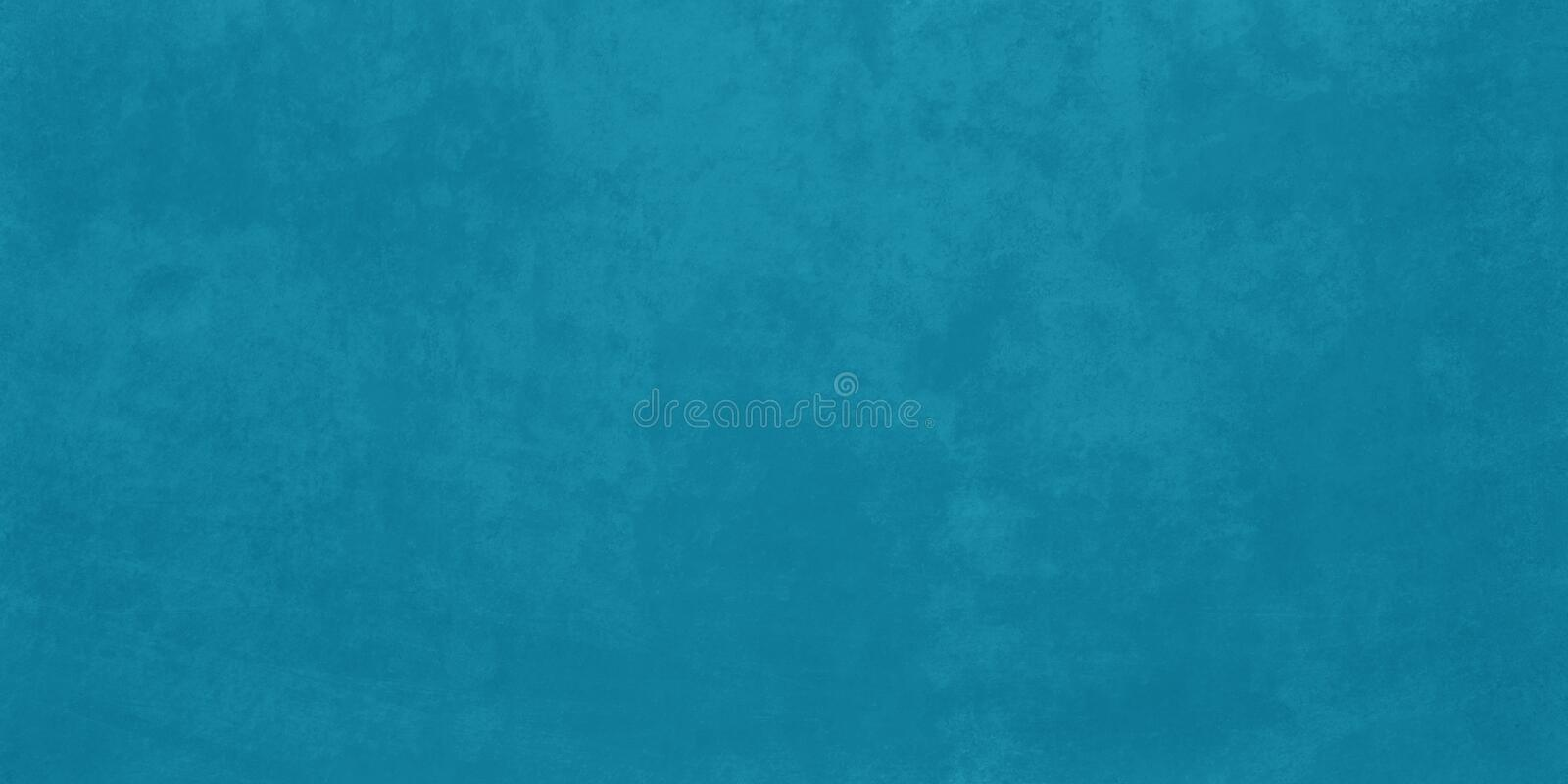 Blue background with faint detailed old vintage grunge texture that is faded stained and marbled vector illustration