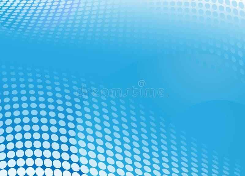 Blue background halftone stock illustration