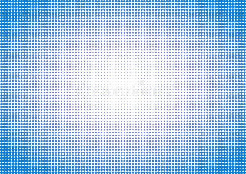 Blue Halftone polka dots sky background stock illustration