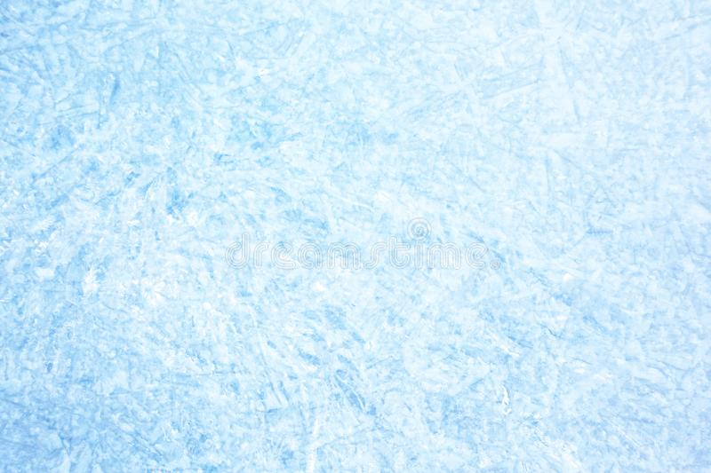 Blue background of Ice texture. Surface of winter ice on Baikal lake in Siberia . Blue background of Ice texture royalty free stock photo