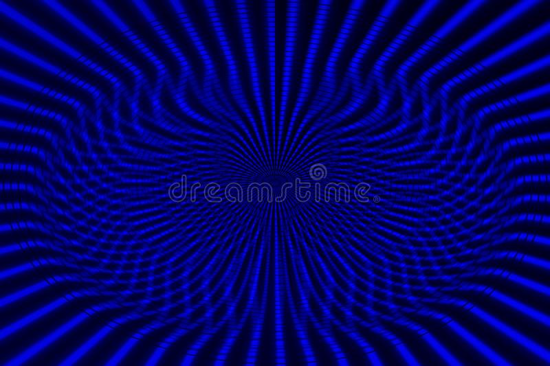 Blue background from line set abstract representation of pattern and destruction. royalty free illustration