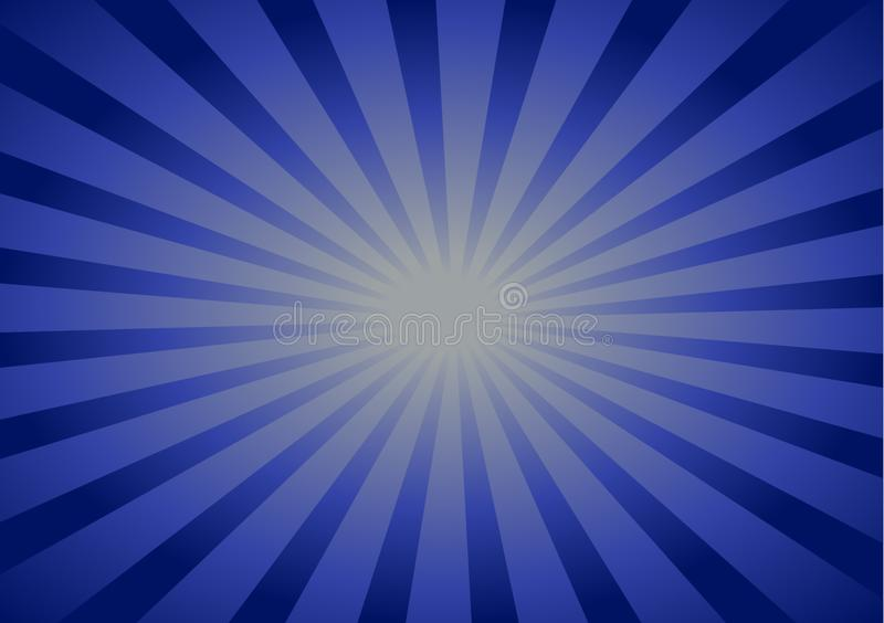 Blue background with lines running towards center. Blue background with lines running towards the center for wallpaper or text layout vector illustration